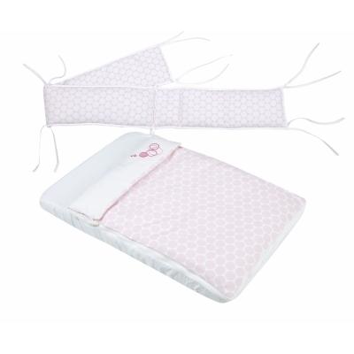 Комплект белья в колыбельку CODODO, розовые кружки