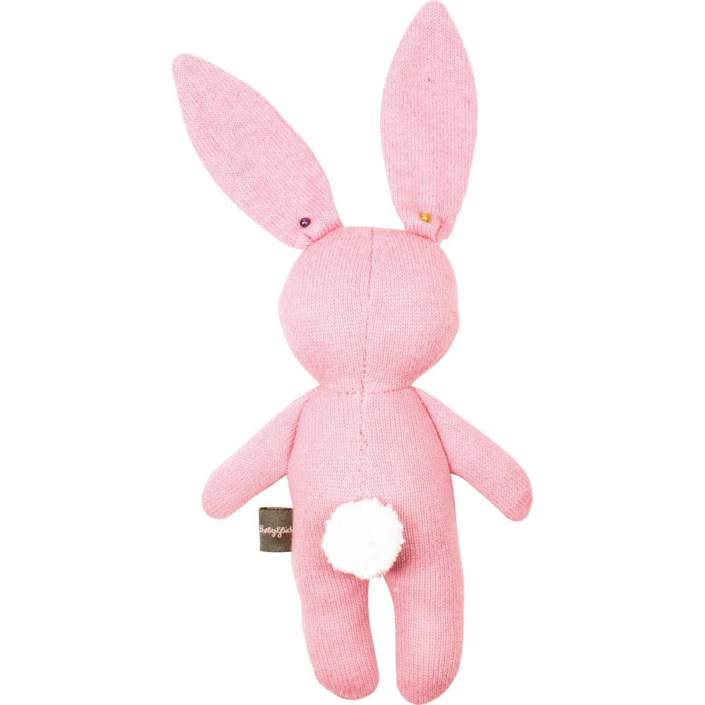 Зайка-обнимайка розового цвета