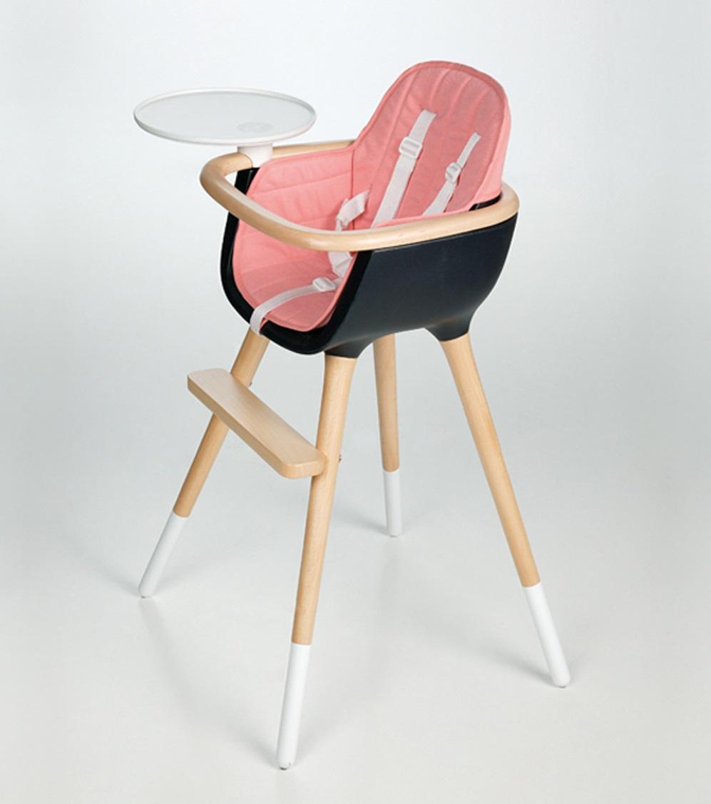 Тканевая вкладка к стульчику для кормления OVO розовая
