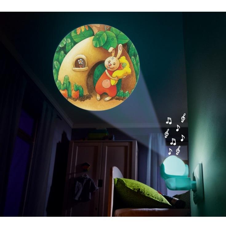 """Ночник-проектор """"Зверята"""" с музыкой"""