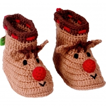 """Пинетки """"Мой малыш"""" Рождественский олень"""