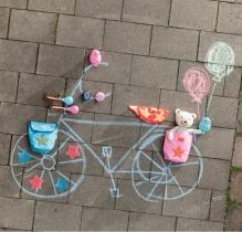 Гудок на велосипед, девочка