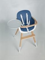 Тканевая вкладка к стульчику для кормления OVO синяя