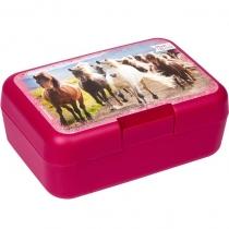 """Коробка бутербродная """"Друзья Лошадей"""" розовая"""