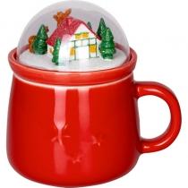 Чашка рождественская с крышкой
