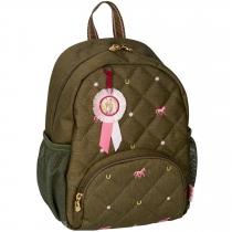 """Маленький рюкзак """"Друзья Лошадей"""" оливковый"""