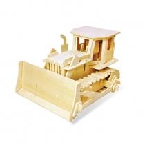 Деревянный 3D паззл Бульдозер (на пульте управления)